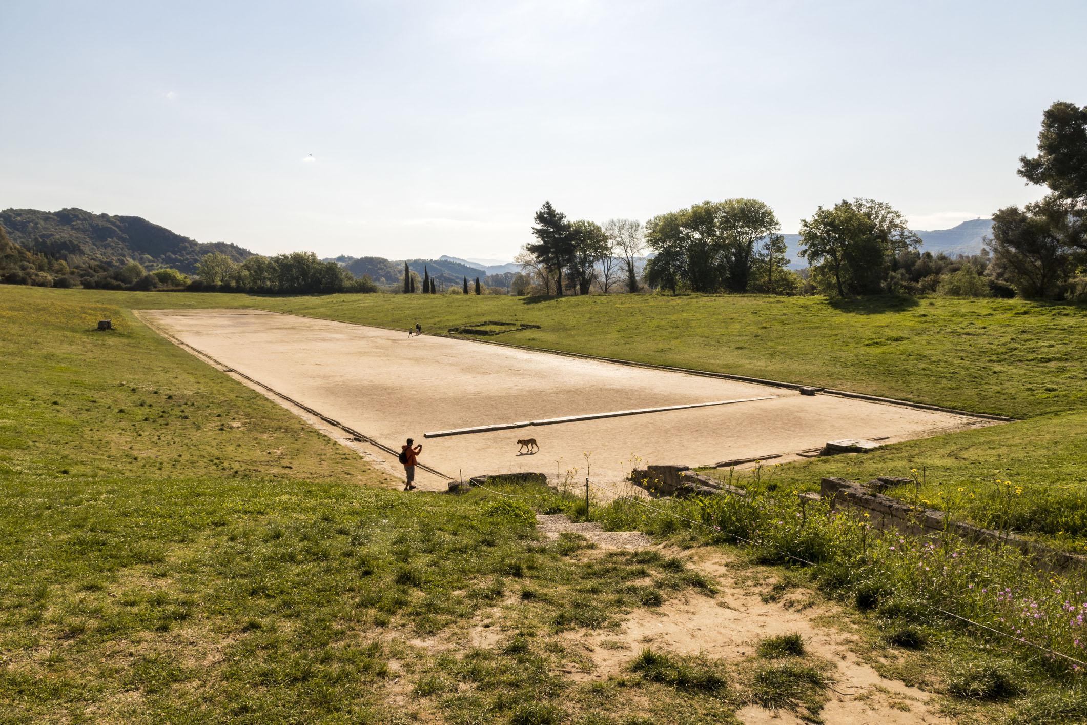Antik Yunan döneminde Olympia şehrinde oyunların düzenlendiği stadyum