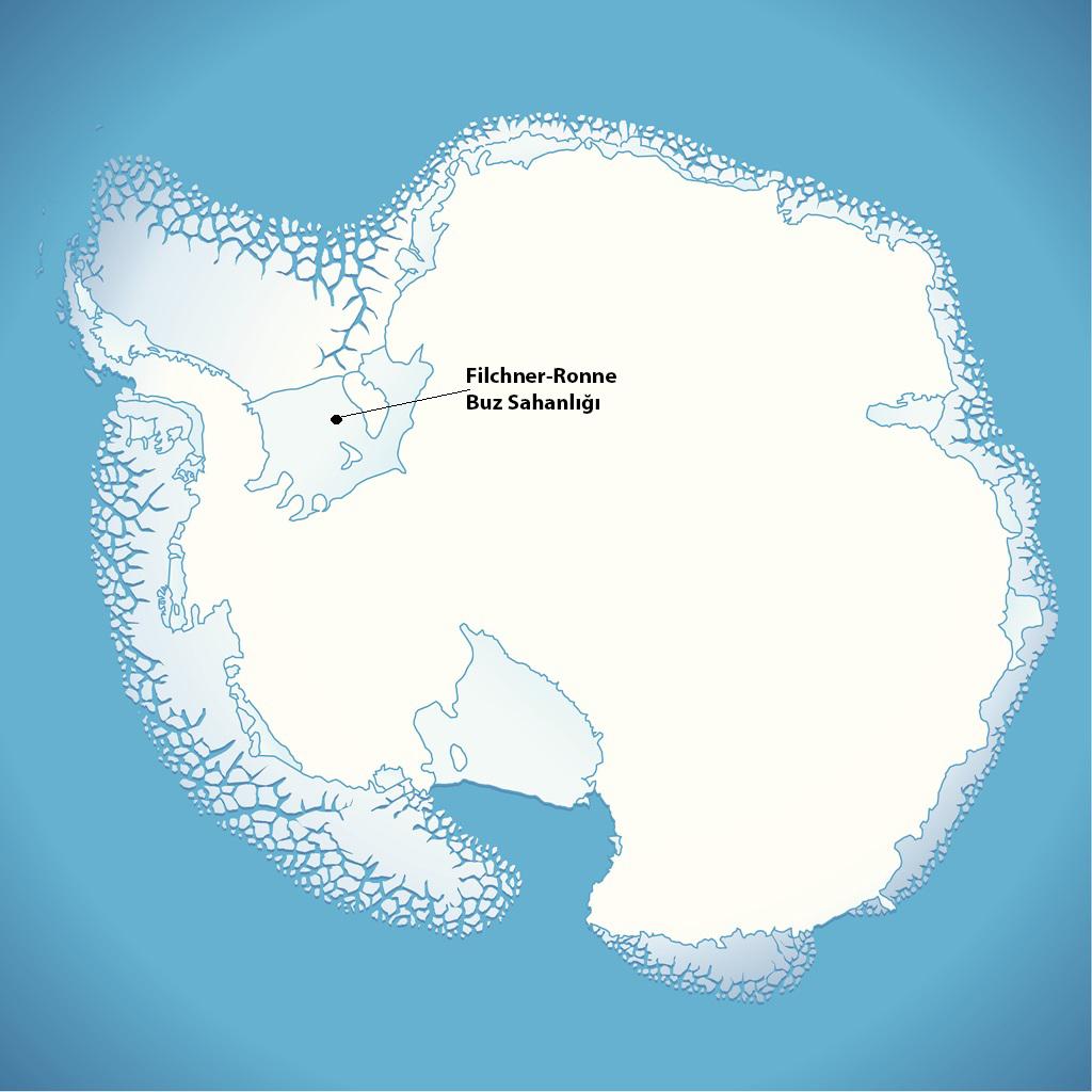 Antarktika Filchner-Ronne buz sahanlığında canlılar keşfedildi.