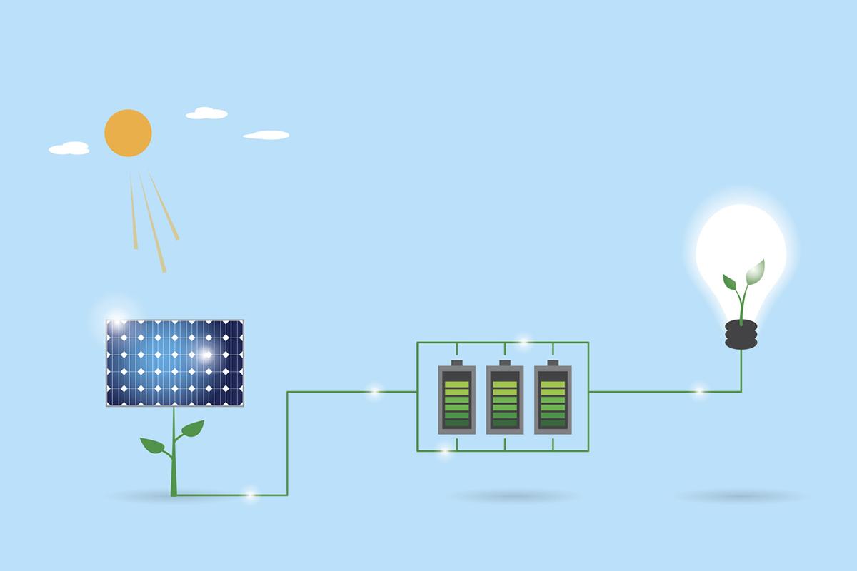 Fotovoltaik hücreler (güneş gözeleri) güneş enerjisini elektrik enerjisine çevirir.