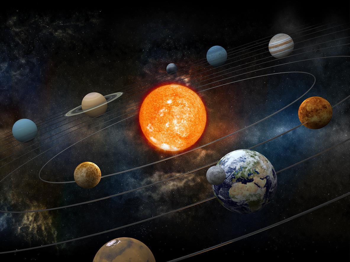 gunes sistemi gezegenler yorungeleri