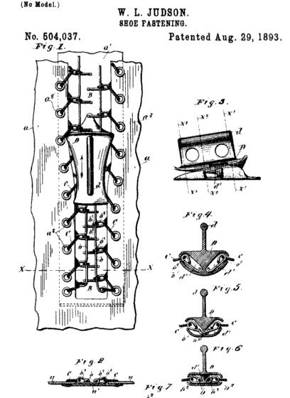 ABD'li mühendis Whitcomb Judson'ın patentini aldığı fermuar tasarımı