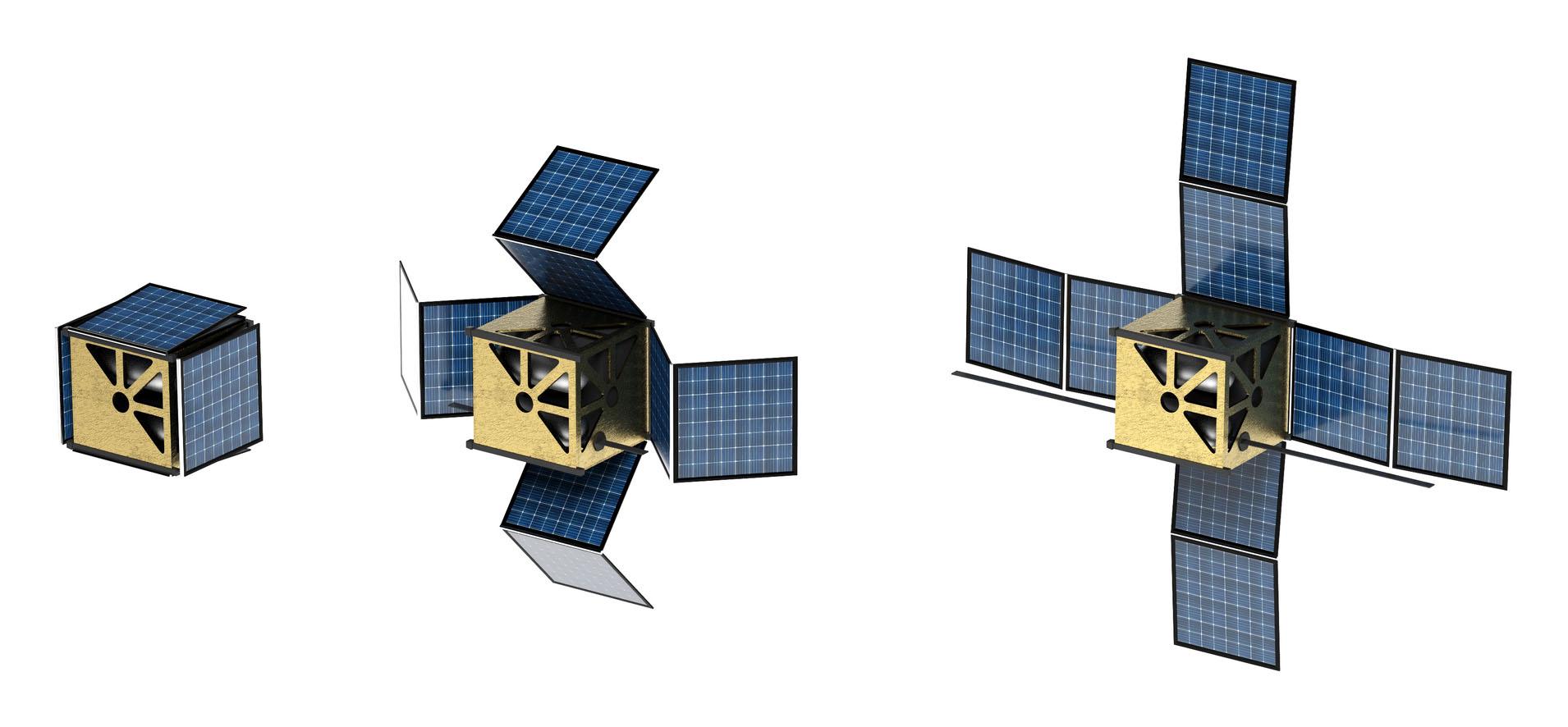 küp uydu modeli origami