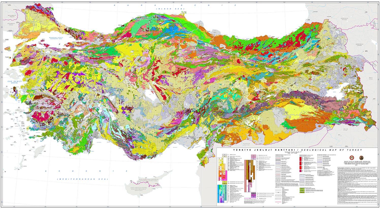 türkiye jeoloji haritası MTA 2021