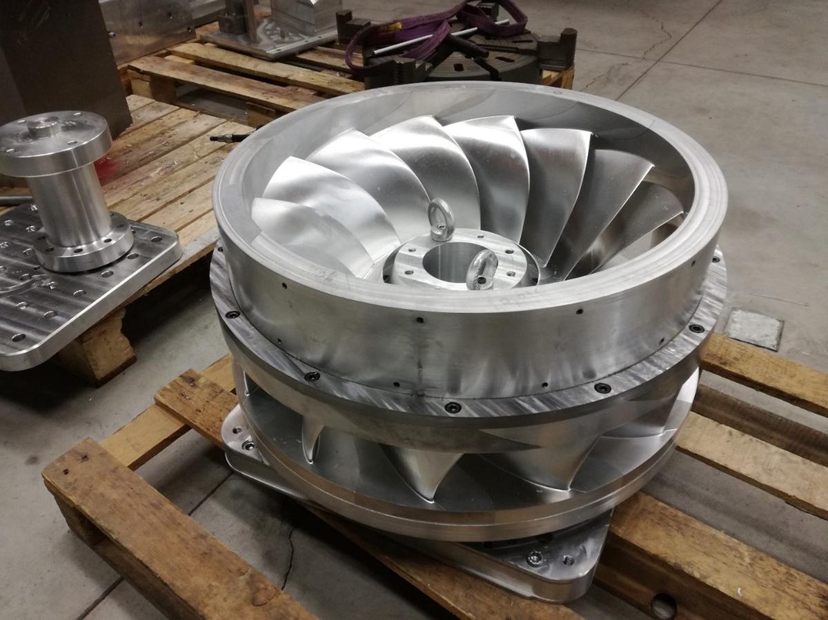 Proje kapsamında üretilen türbin bileşeni