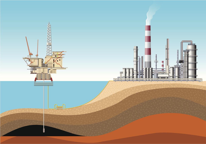 Deniz üzerinde yüzen petrol platformları da sondaj gemileri gibi okyanuslardan petrol ve doğal gaz çıkarılmasını sağlar.