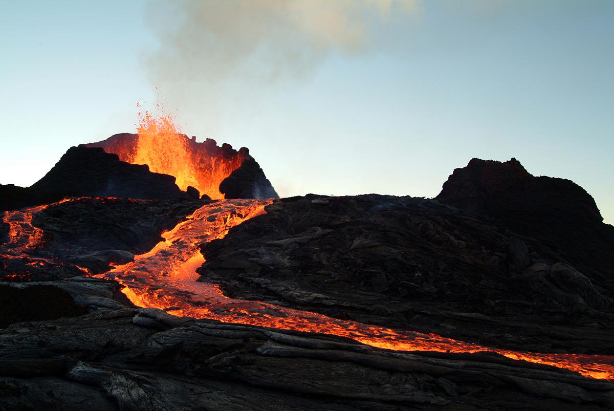 Volkan lav akıntısı