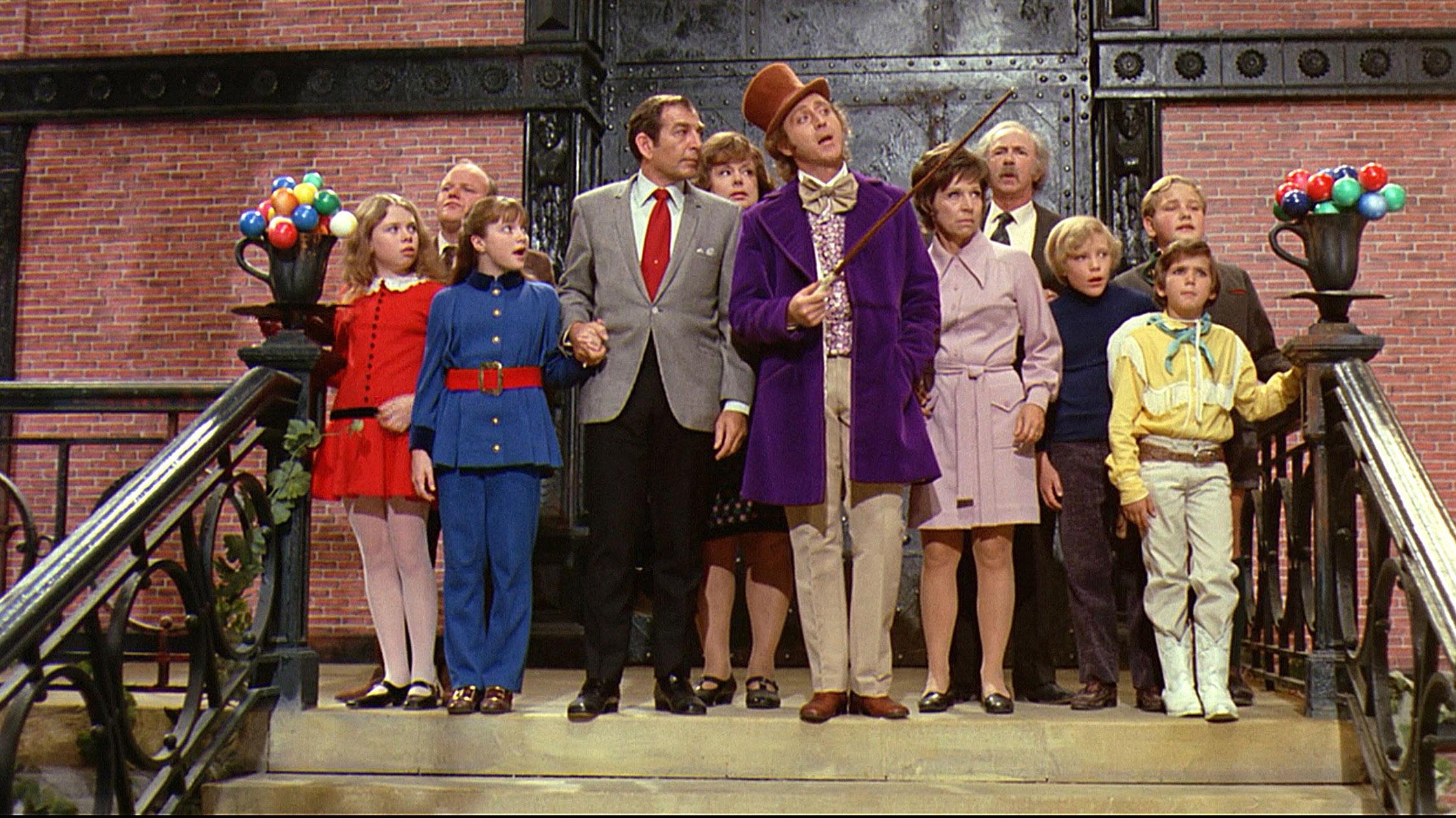 Willy Wonka ve Çikolata Fabrikası (1971) filminden bir sahne